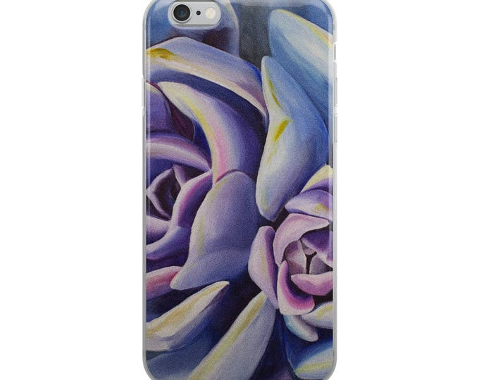 Succulent iPhone Case- watercolor Painting on Phone Case