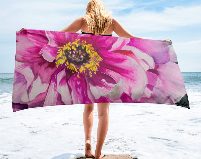 Pink Flower Towel
