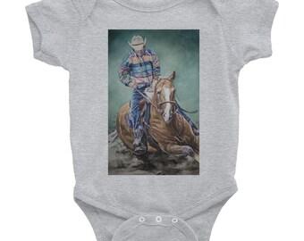 Cowboy Riding a Horse- Infant Bodysuit