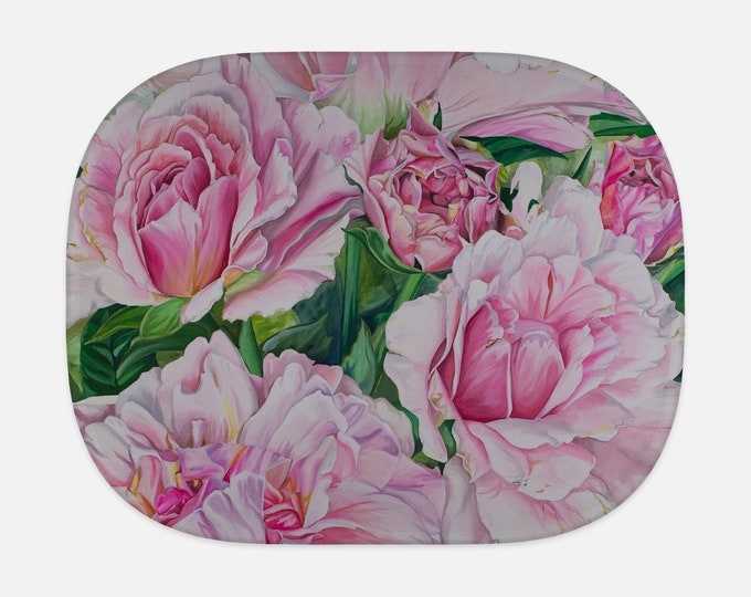 SUN SHADE - Pink Floral - Watercolor Painting on Shade