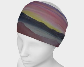 HEADBAND- Desert Sunset, Watercolor on Headband