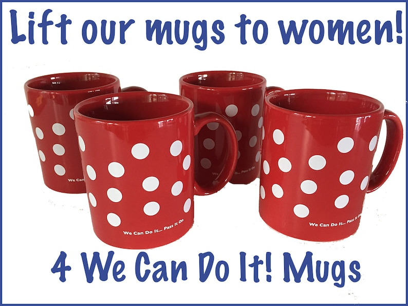 FEMINIST MUGS 4-Pack. For Strong Courageous Women. Coffee image 0