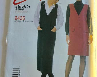 McCall's Easy Stitch 'n Save Pattern 9436