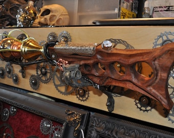 "Ray Gun Rifle "" EARTHBOUND COLLABORATOR RAYGUN Rifle "" Blunderbuss Wall Art Steampunk Sci-fi Victorian Industrial"
