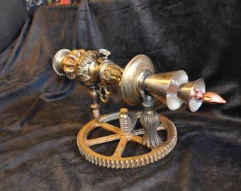 "Ray Gun "" ELECTRON DISPERSER RAYGUN "" Table Top Steampunk Sci-fi Victorian Industrial"