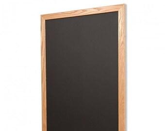 Natural Wood Frame Chalkboard Vertical