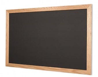 Natural Wood Frame Chalkboard Horizontal