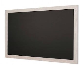 White Wood Frame Chalkboard Horizontal