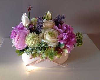 Silk flower arrangement etsy silk flower arrangement mightylinksfo