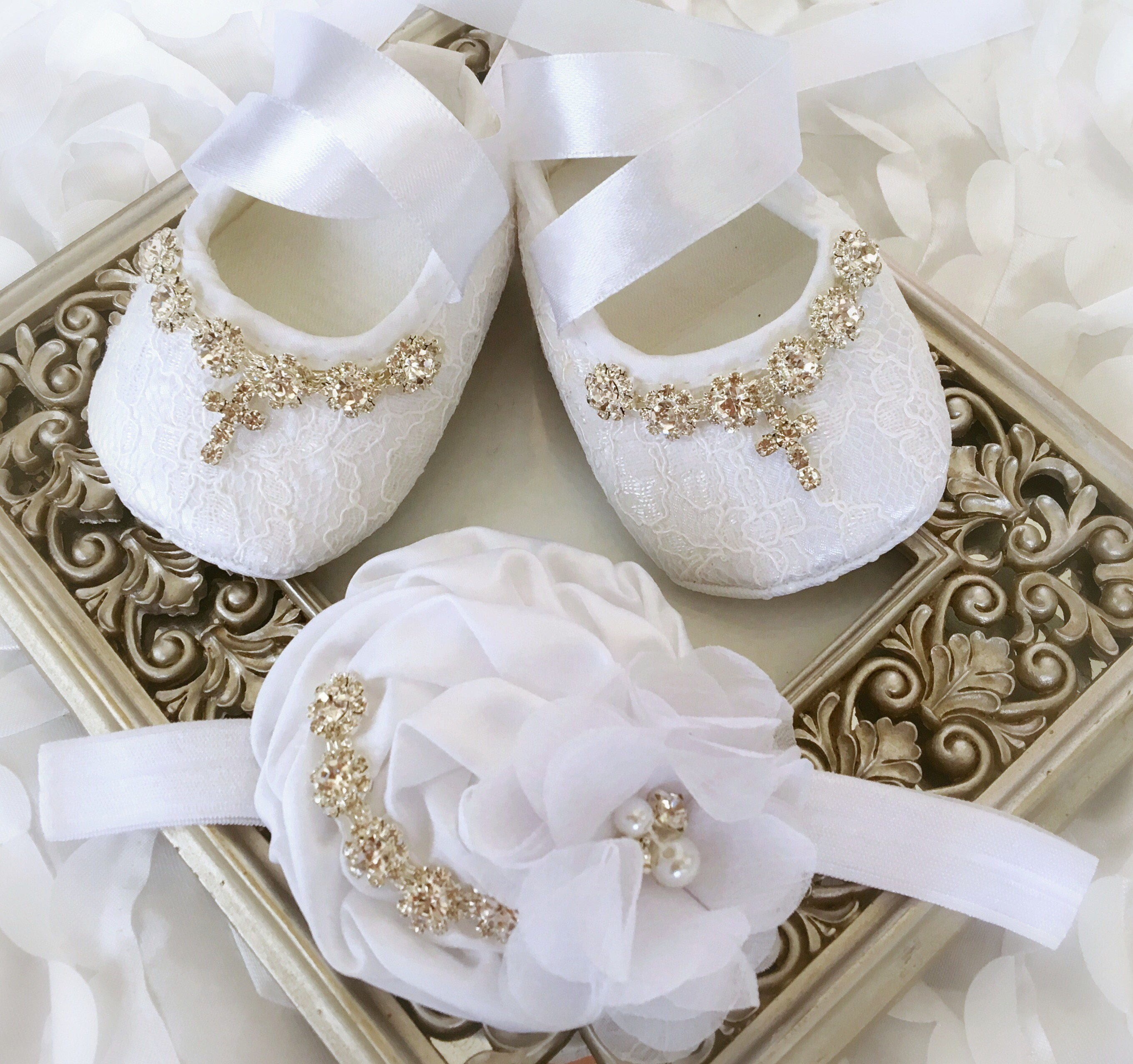 Blink Rhinestone Baby Newborn Hair Band Baptism Wedding Christening