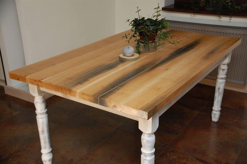 Madera maciza de roble comedor mesa madera mesa de comedor | Etsy