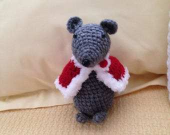 Handmade Crochet Small Gray Mouse