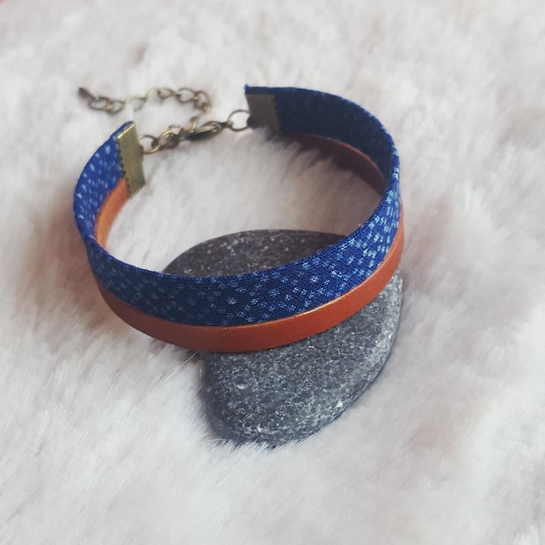 bracelet leather and fabric MEN African BRACELET fabric bracelet African wax print fabric strap ankara