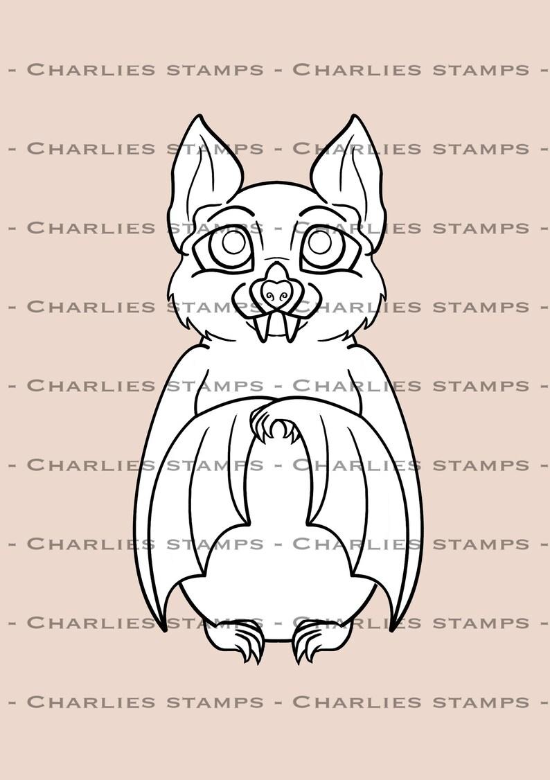 Kleurplaten Halloween Vleermuizen.Cute Halloween Vleermuis Digistamp Digitale Stempel Bat Etsy