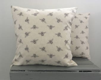 Bees Cushion Cover-Bee Cushion Cover-Bee Print Cushion Cover