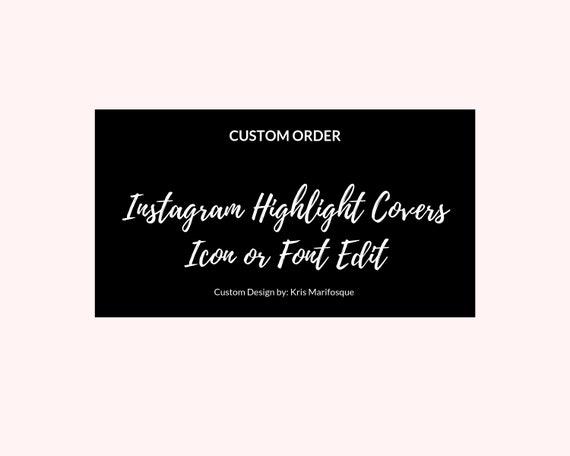 Custom Order Instagram