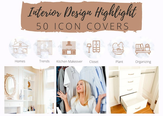 50 Instagram Story Highlight Icons White Marble Icon Covers For Interior Designer Girl Boss Home Staging Real Estate Home Design