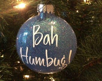 Bah humbug ornament | Etsy