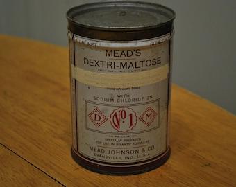 Vintage Mead's Dextri-Maltose 1 LB Infant's Formulas - NICE!!