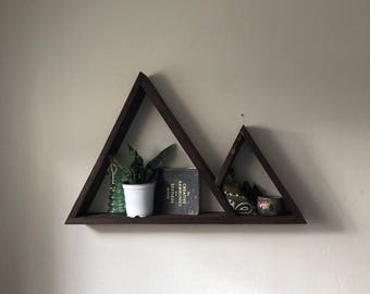 Triangle Shelf - Geometric Wood Shelves for your home or office