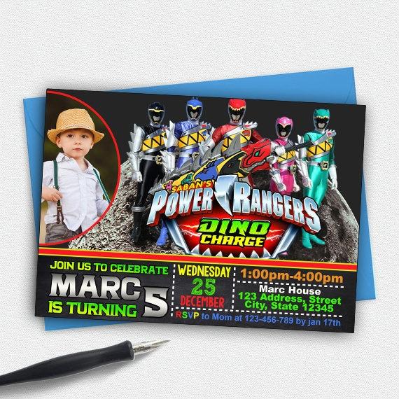Power Ranger InvitationPower BirthdayPower