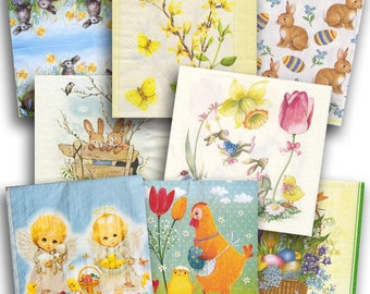 for Party Decoupage Craft MIX Sagen Small Little Girls 4x Paper Napkins