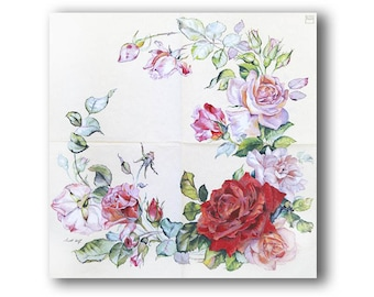 PAPER TABLE NAPKINS FOR CRAFT VINTAGE FLOWER DECOUPAGE TEA PARTIES 437