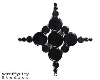 Black Agate Double Flare Plugs