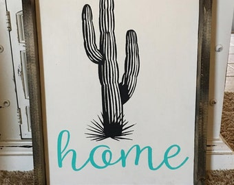 Saguaro Cactus Home Sign