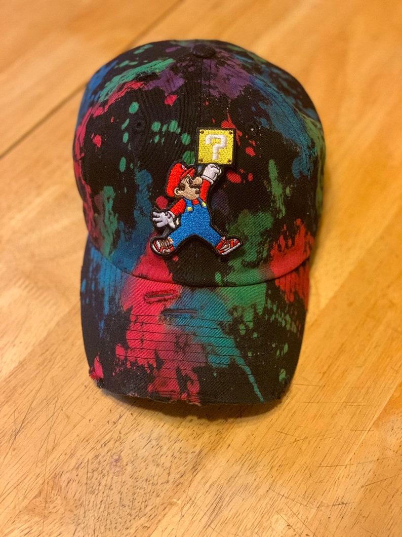 689220f43cc Mario Jordan Strapback Hat   Etsy