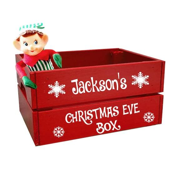 Christmas Crate Box.Christmas Eve Box Personalized Christmas Eve Crate Santa Hamper Christmas Hamper Personalized Christmas Eve Box Christmas Crate