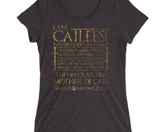 I am Catleesi Mother of cat Ladies' short sleeve t-shirt