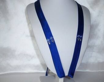 Detachable Crepe Straps One Pair spaghetti straps wedding bridal prom dress blue crepe blue dress straps,shoulder straps,dress straps