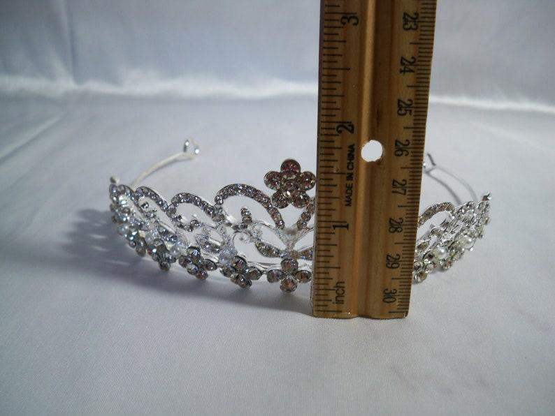 Bridal Rhinestone Tiara Headband Prom Bridesmaid Quinceanera Wedding Birthday Princess Crown Maid of Honor Mother to Be Hairband Tiara Crown