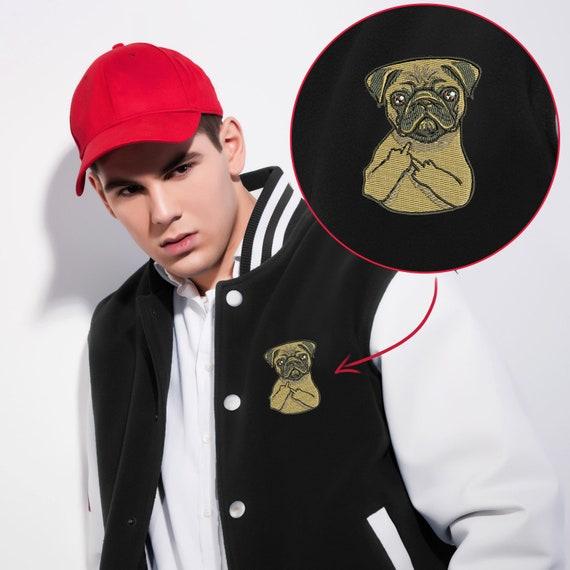 Pugs Make Me Happy Baseball Jacket Uniform Unisex Sweater Coat