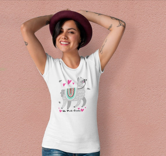 Aucun Prob Lama chemise drôle drôle drôle Lama T Shirt alpaga amant cadeau mignon T Shirt unisexe Tee graphique tee Animal chemise blanc T Shirt alpaga chemise TU1132 437b59