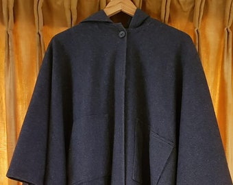Vintage UK 1978 Wool Cloak