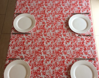 Red Coral Table Cloth