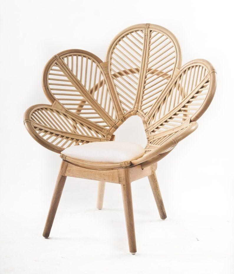 Kids Handmade Rattan Petal Chair, Unique Kids Feature Chair
