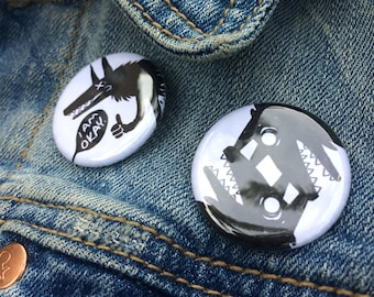 Wolf Button 2-Pack