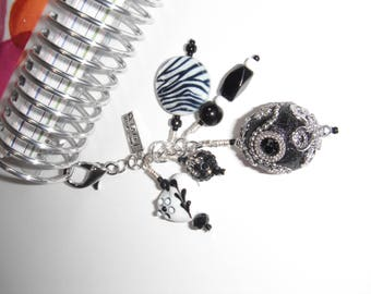 Black and White Planner Charm, Purse Charm, Planner Charm, TN Accessories, Planner Accessories, Charm