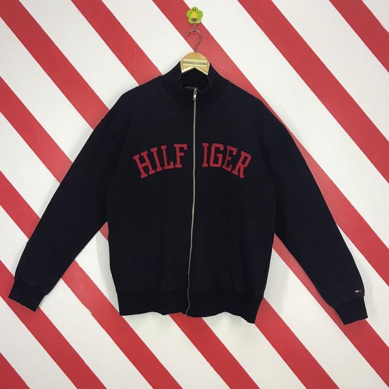 297d4450 Vintage 90s Tommy Hilfiger Sweatshirt Tommy Hilfiger Zipper   Etsy
