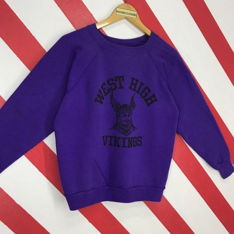Vintage 90s Minnesota Vikings Sweatshirt Vikings NFL Sweater  1296b8e3d