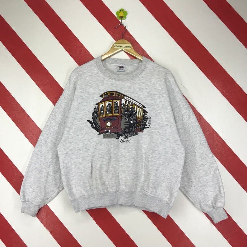 Vintage 90s Crazy Shirt Hawaii Sweatshirt Bkliban Crazy Shirt  d3d6972c2
