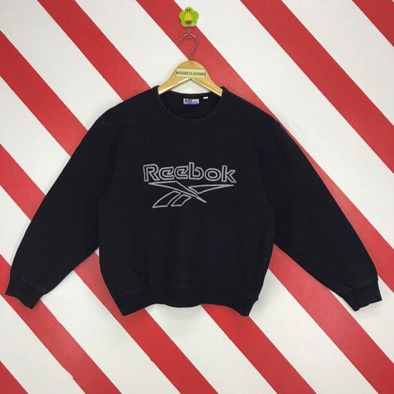 sweatshirt reebok classic noir avec logo broderie