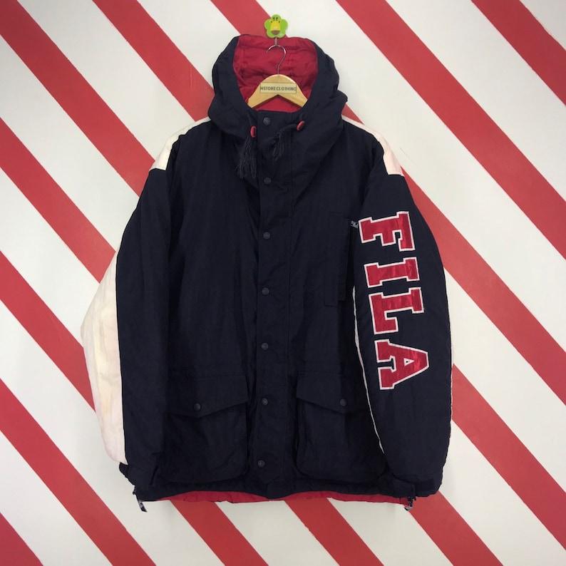 6748220125e3 Vintage 90s Fila Jacket Fila Heavyweights Hoodie Jacket Fila | Etsy
