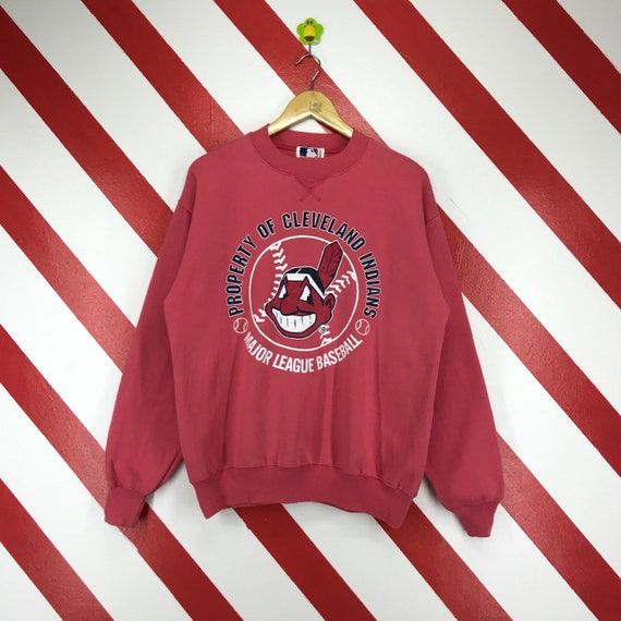 Vintage 90s Cleveland Indians MLB Sweatshirt Sweater Cleveland  784e9212a
