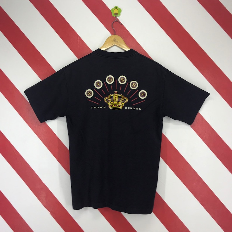 b0602441 Vintage 90s Stussy Crown Renown Tee Stussy USA Tshirt Stussy | Etsy