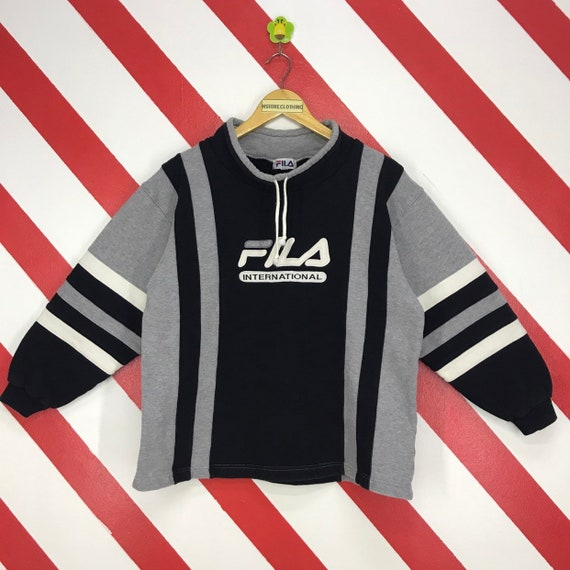 Vintage 90s Fila Sweatshirt Mock Neck Fila Sports