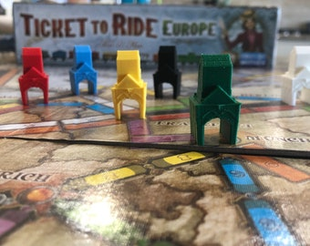 TICKET To RIDE Station Harbor Depot (unofficial) Pieces for board game TTR T2R Rails Sails - Aventureros al Tren! - CASIOPEA3D Print
